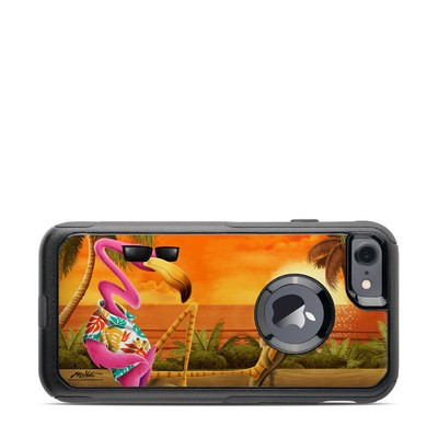 OtterBox Commuter iPhone 7 Case Skin - Sunset Flamingo