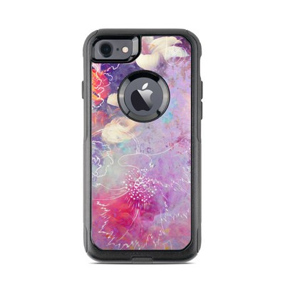 OtterBox Commuter iPhone 7 Case Skin - Sketch Flowers Lily