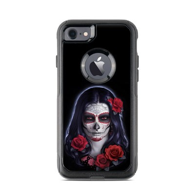 OtterBox Commuter iPhone 7 Case Skin - Sugar Skull Rose