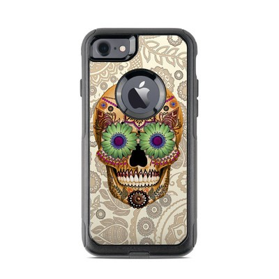 OtterBox Commuter iPhone 7 Case Skin - Sugar Skull Bone