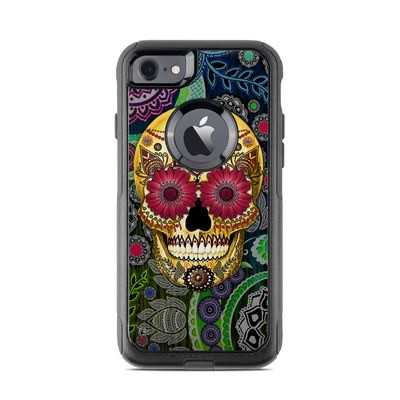 OtterBox Commuter iPhone 7 Case Skin - Sugar Skull Paisley
