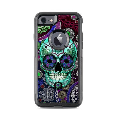 OtterBox Commuter iPhone 7 Case Skin - Sugar Skull Sombrero