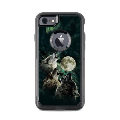 OtterBox Commuter iPhone 7 Case Skin - Three Wolf Moon