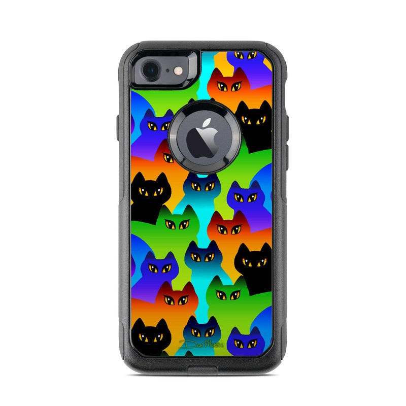 online store faad5 3f034 OtterBox Commuter iPhone 7 Case Skin - Rainbow Cats