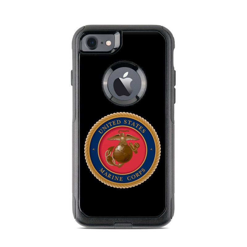 sale retailer 7dd78 c8fb5 OtterBox Commuter iPhone 7 Case Skin - USMC Black