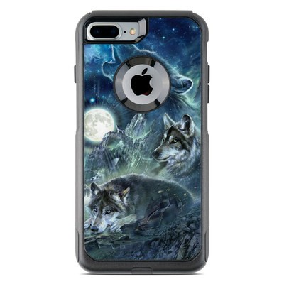 OtterBox Commuter iPhone 7 Plus Case Skin - Bark At The Moon