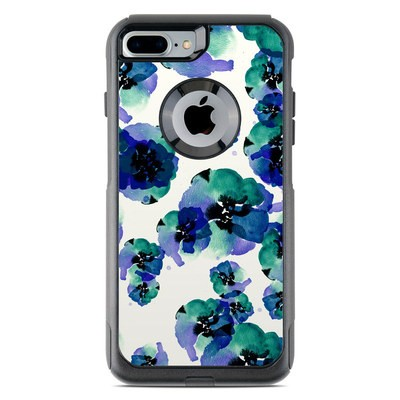 OtterBox Commuter iPhone 7 Plus Case Skin - Blue Eye Flowers