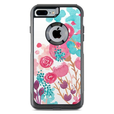 OtterBox Commuter iPhone 7 Plus Case Skin - Blush Blossoms