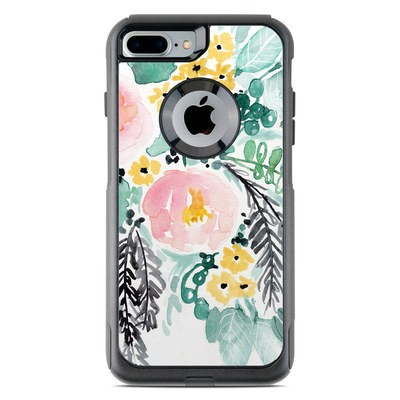 OtterBox Commuter iPhone 7 Plus Case Skin - Blushed Flowers