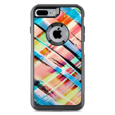 OtterBox Commuter iPhone 7 Plus Case Skin - Check Stripe
