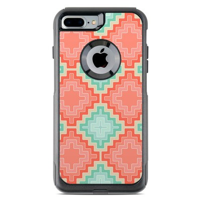 OtterBox Commuter iPhone 7 Plus Case Skin - Coral Diamond