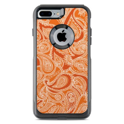 OtterBox Commuter iPhone 7 Plus Case Skin - Paisley In Orange