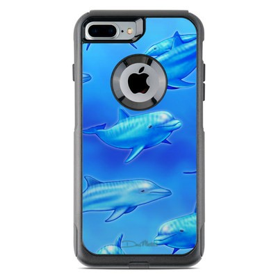 OtterBox Commuter iPhone 7 Plus Case Skin - Swimming Dolphins