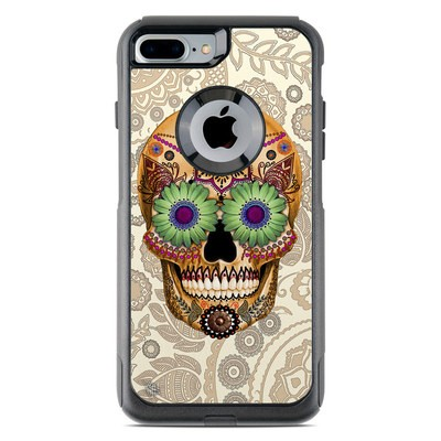 OtterBox Commuter iPhone 7 Plus Case Skin - Sugar Skull Bone