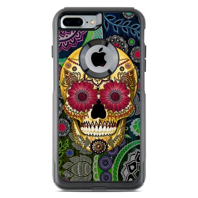 OtterBox Commuter iPhone 7 Plus Case Skin - Sugar Skull Paisley