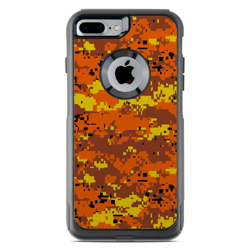 innovative design b7fe6 c6c51 OtterBox Commuter iPhone 7 Plus Case Skin - Digital Orange Camo