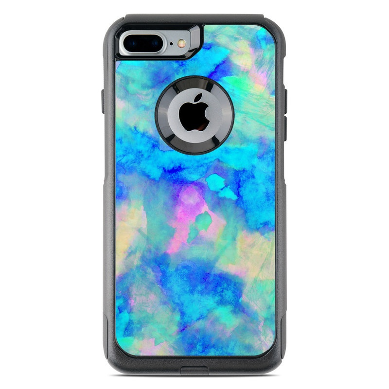 new concept 922f9 44072 OtterBox Commuter iPhone 7 Plus Case Skin - Electrify Ice Blue