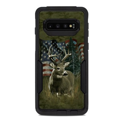 OtterBox Commuter Galaxy S10 Case Skin - Deer Flag