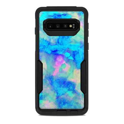 OtterBox Commuter Galaxy S10 Case Skin - Electrify Ice Blue