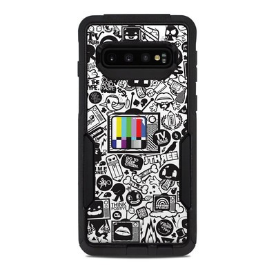OtterBox Commuter Galaxy S10 Case Skin - TV Kills Everything
