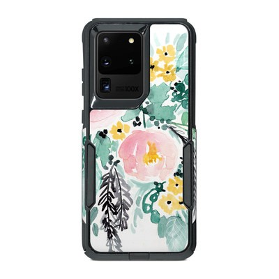 OtterBox Commuter Galaxy S20 Ultra Case Skin - Blushed Flowers