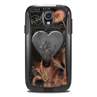 Otterbox Commuter Galaxy S4 Case Skin - Black Lace Flower