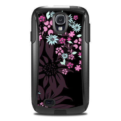 Otterbox Commuter Galaxy S4 Case Skin - Dark Flowers