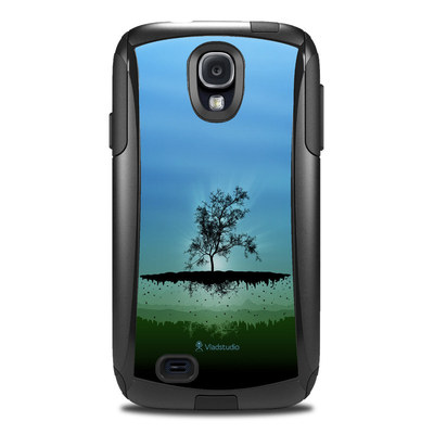 Otterbox Commuter Galaxy S4 Case Skin - Flying Tree Blue