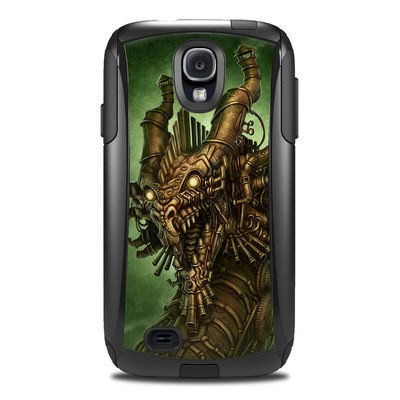Otterbox Commuter Galaxy S4 Case Skin - Steampunk Dragon