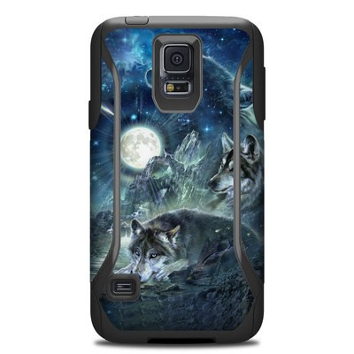 Otterbox Commuter Galaxy S5 Case Skin - Bark At The Moon