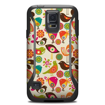 Otterbox Commuter Galaxy S5 Case Skin - Bird Flowers