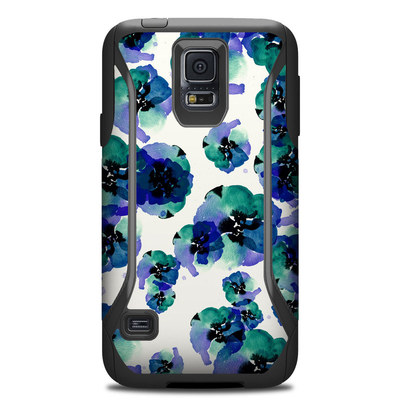 Otterbox Commuter Galaxy S5 Case Skin - Blue Eye Flowers