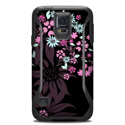 Otterbox Commuter Galaxy S5 Case Skin - Dark Flowers