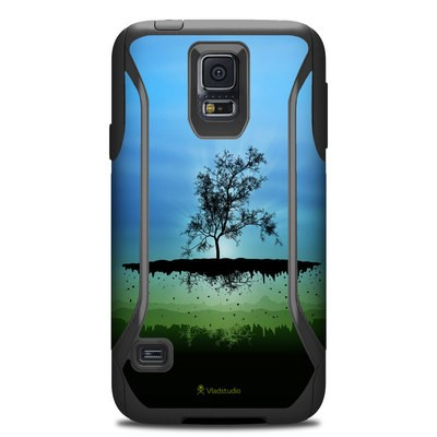 OtterBox Commuter Galaxy S5 Case Skin - Flying Tree Blue