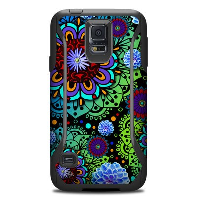 Otterbox Commuter Galaxy S5 Case Skin - Funky Floratopia