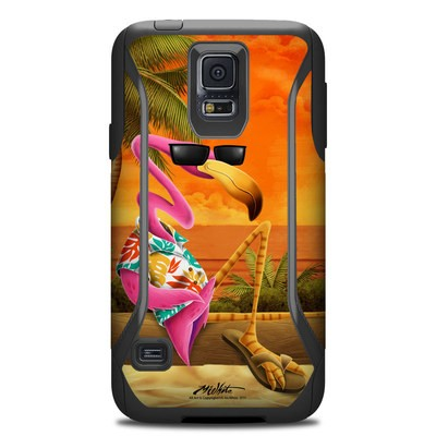 Otterbox Commuter Galaxy S5 Case Skin - Sunset Flamingo
