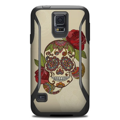 Otterbox Commuter Galaxy S5 Case Skin - Sugar Skull
