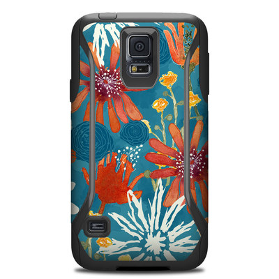 Otterbox Commuter Galaxy S5 Case Skin - Sunbaked Blooms