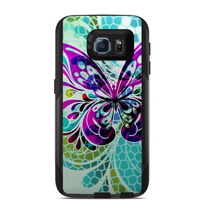 Otterbox Commuter Galaxy S6 Case Skin - Butterfly Glass