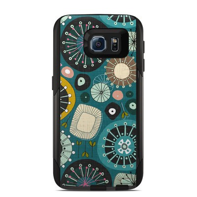 OtterBox Commuter Galaxy S6 Case Skin - Blooms Teal