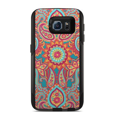 Otterbox Commuter Galaxy S6 Case Skin - Carnival Paisley