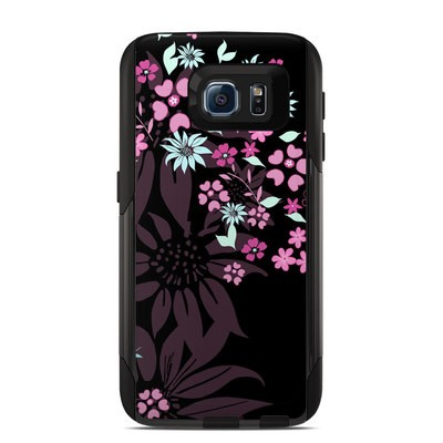 Otterbox Commuter Galaxy S6 Case Skin - Dark Flowers