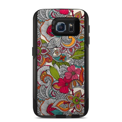 OtterBox Commuter Galaxy S6 Case Skin - Doodles Color