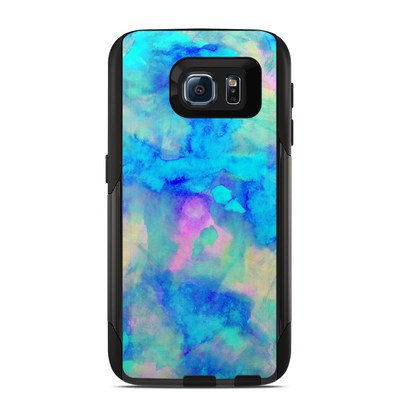 Otterbox Commuter Galaxy S6 Case Skin - Electrify Ice Blue