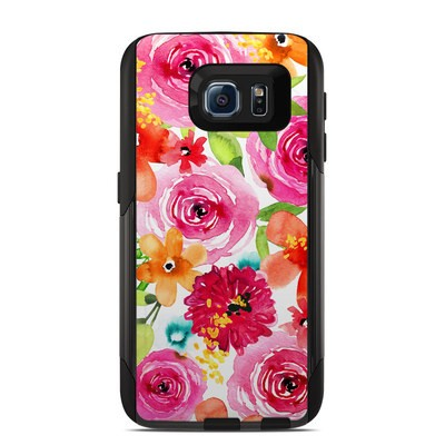 OtterBox Commuter Galaxy S6 Case Skin - Floral Pop