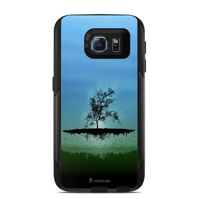 OtterBox Commuter Galaxy S6 Case Skin - Flying Tree Blue