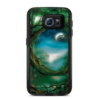 OtterBox Commuter Galaxy S6 Case Skin - Moon Tree