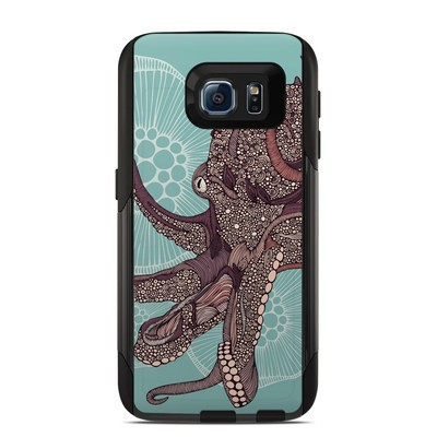 Otterbox Commuter Galaxy S6 Case Skin - Octopus Bloom