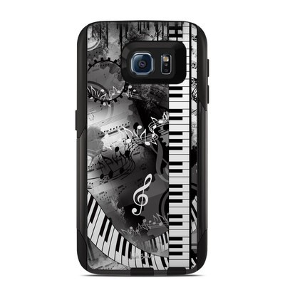 Otterbox Commuter Galaxy S6 Case Skin - Piano Pizazz