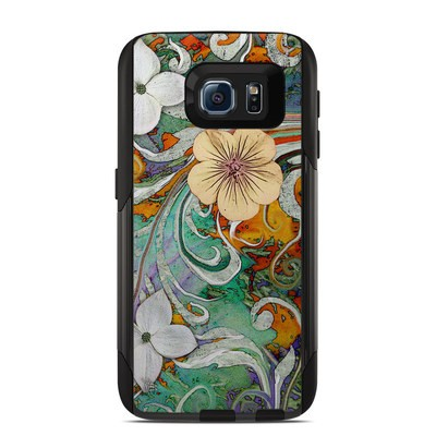 OtterBox Commuter Galaxy S6 Case Skin - Sangria Flora
